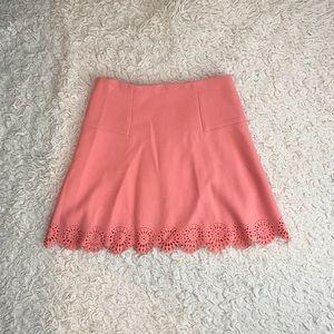 Ann Taylor Loft Coral Peach Mini Skirt Size 6
